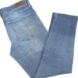 ❤️ DENIZEN Levi's Denim Modern Straight Crop Jeans